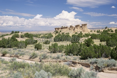 rock formation on the nambe chimayo