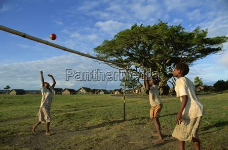 kids playing frum village sulphur bay