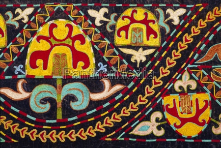 traditional kirghiz embroidery kyrgyzstan central asia