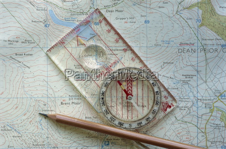 walkers compass and map