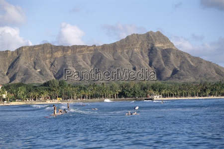 view of diamond head crater oahu
