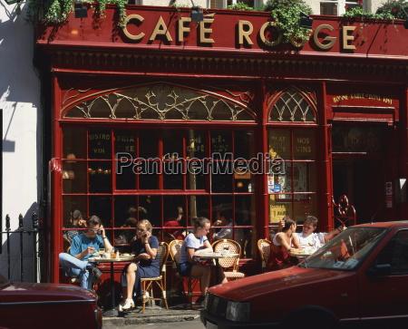 people sitting outside cafe rouge soho