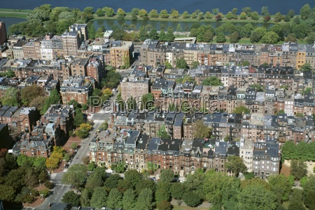 aerial view of back bay area
