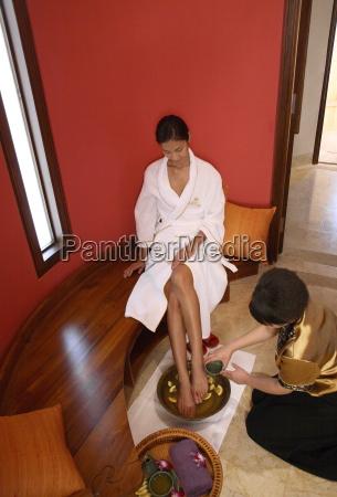 foot bath at the brilliant resort