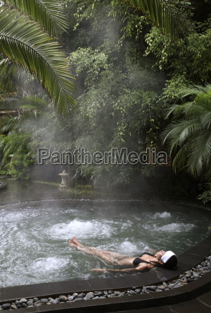 hot spring pool at the brilliant