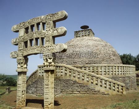 stupa no 3 at sanchi unesco