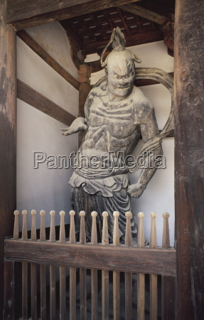guardian figure at horyuji temple which