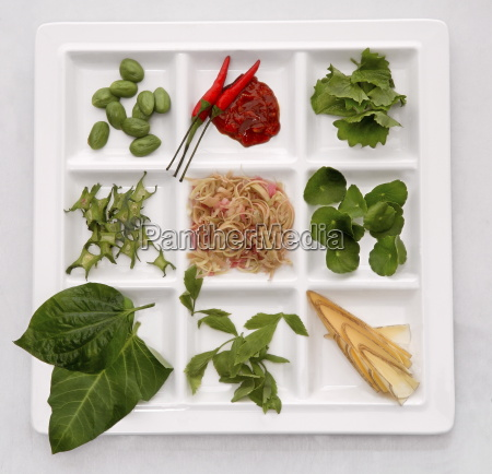 salad ingredients containing brahmi leaves centella