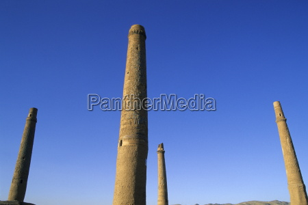 four of the six remaining minarets
