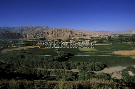 view of bamiyan showing cliffs with