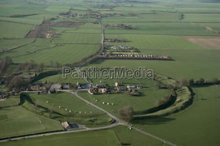 aerial view of avebury unesco world