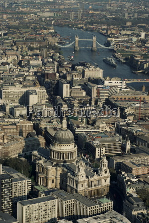 aerial view of st pauls cathedral