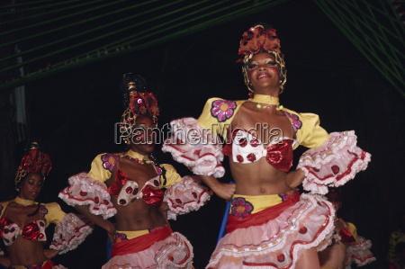 portrait of women dancers in costume