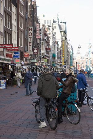 damrak a busy thoroughfare in the