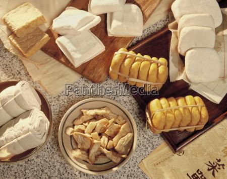 various kinds of tofu soya bean
