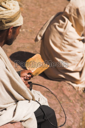 pilgrim reads holy bible in bet