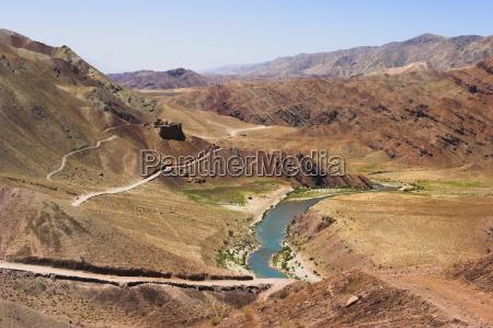 hari rud river flowing through fertile
