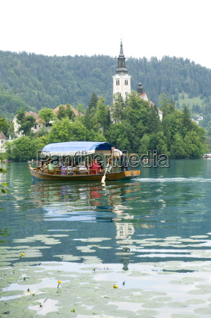 water taxis lake bled slovenia europe