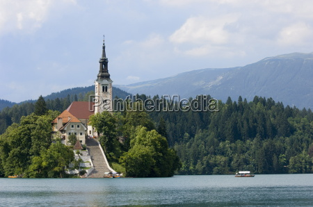 lake bled and st marys church