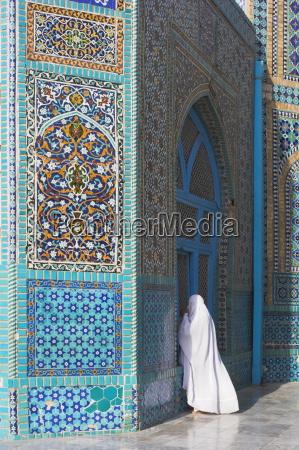 pilgrim at the shrine of hazrat