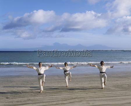 people performing white crane silat an
