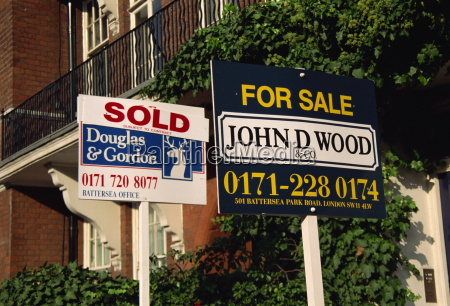 for sale and sold signs london