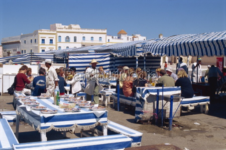 open air fish restaurants and stalls