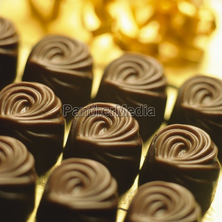 close up of chocolates