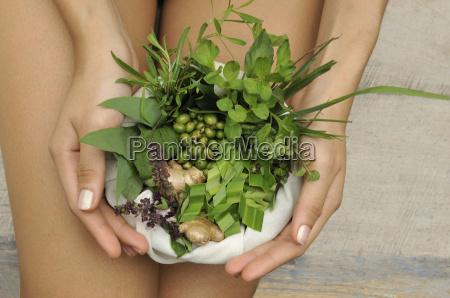 ingredients of herbal compresses including camphor