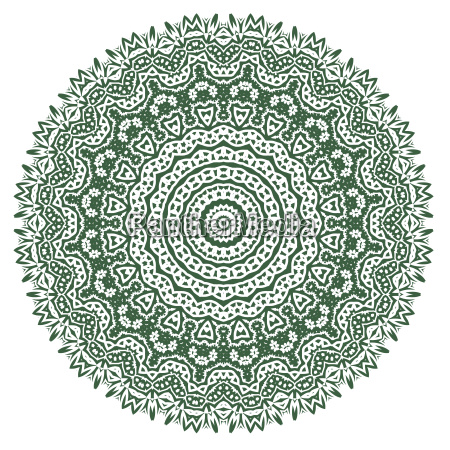 green ornamental oriental geometric ornament