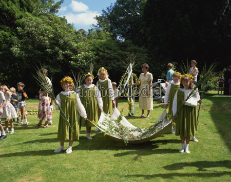 rushbearing ceremony grasmere cumbria england united