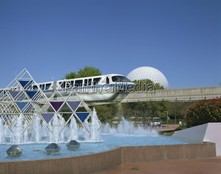 the spaceship earth monorail journey into