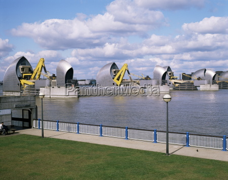 thames barrier floodgates woolwich london england