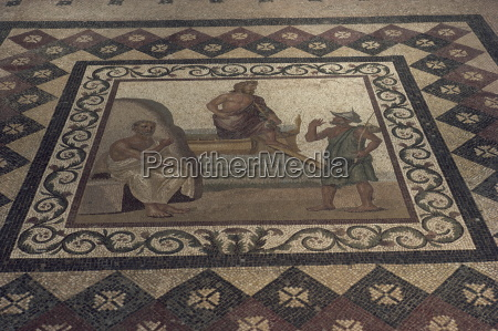 mosaic floor from a roman house