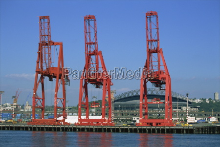 dockside cranes seattle washington state united