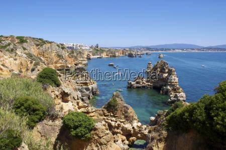 cliffs near praia dona ana lagos