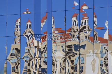 azul vidrio vaso arquitectura color ventana