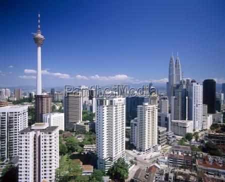 city skyline including the petronas towers