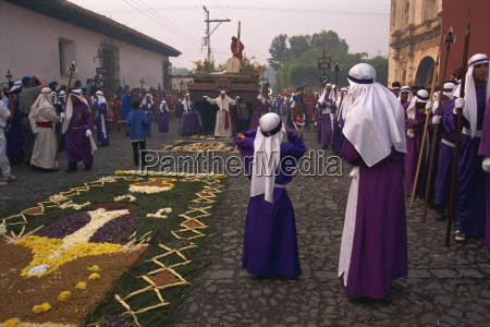 christs calvary in good friday procession
