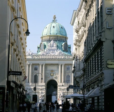 the hofburg viewed from kohl markt