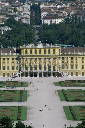 view of palace from gloriette schonbrunn