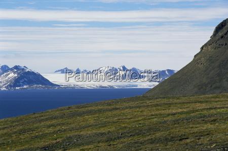 gronfjorden near barentsburg spitsbergen svalbard arctic