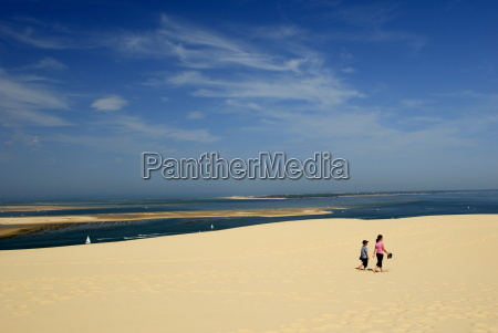 mother and child at dune du
