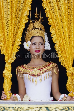 portrait of a traditional cambodian dancer