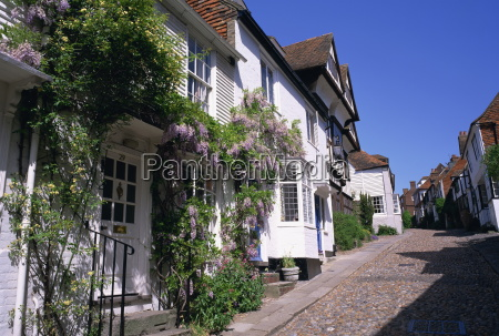 cobbled street in rye sussex england