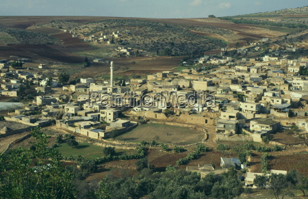 view from above of palestinian village