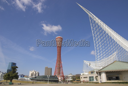 kobe maritime museum and port tower