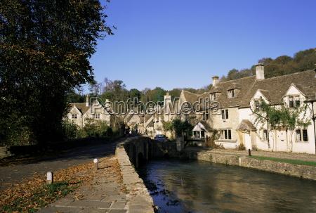 village of castle combe wiltshire england