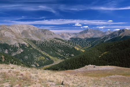 view from summit independence pass colorado