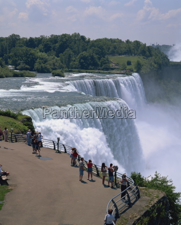 tourists viewing the american falls at